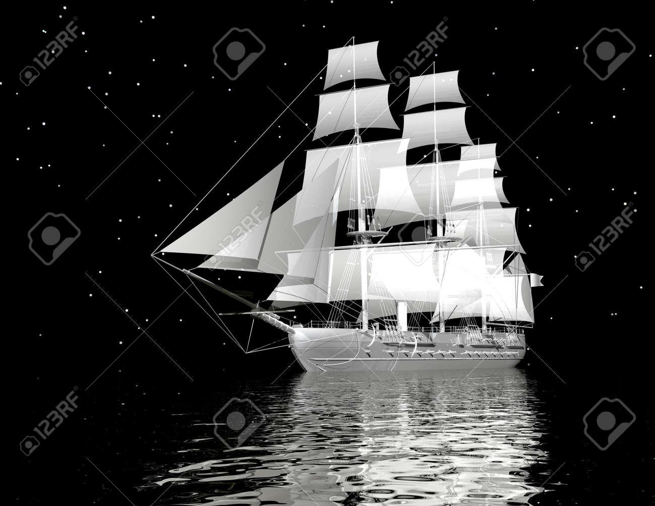 digital visualization of a ship - 8304375