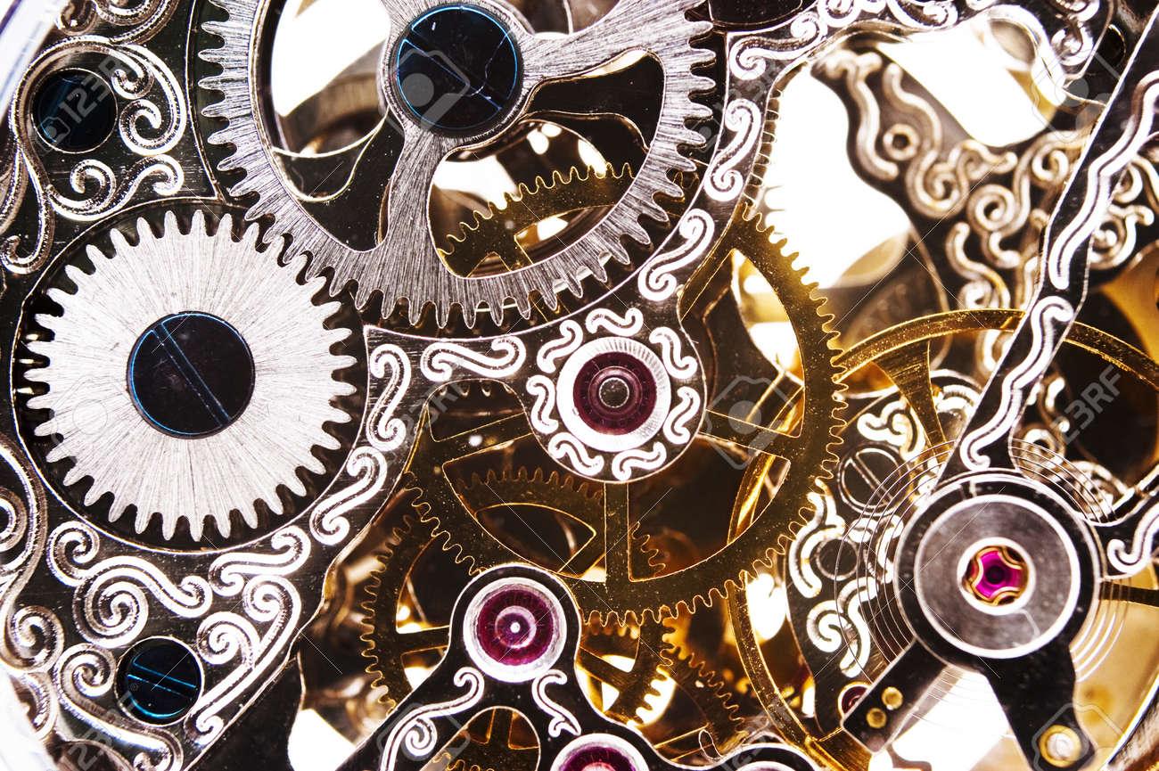 Close up of a clockwork Stock Photo - 9118127