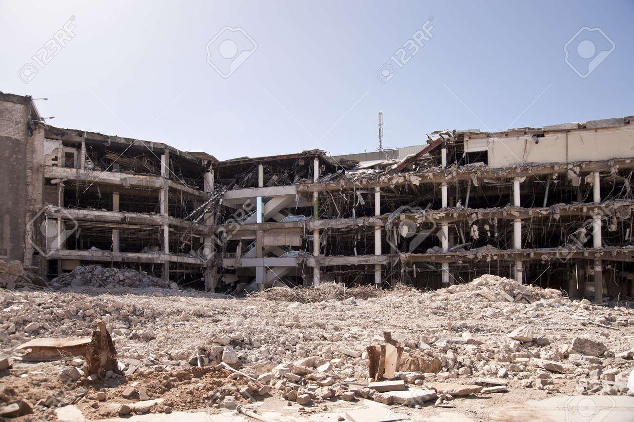 Bâtiment de démolition Banque d'images - 9327676
