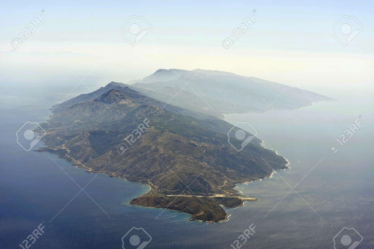 Aerial image of greek island Ikaria - 10301540