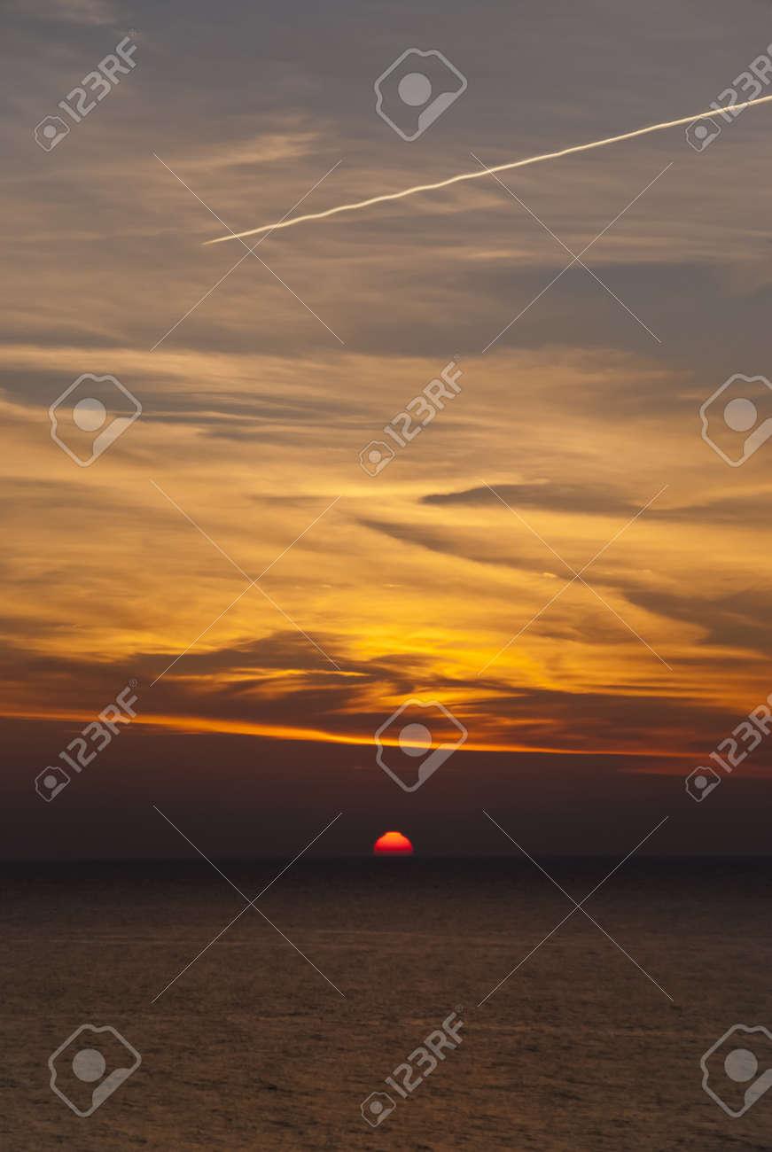 Sunset in Ahrenshoop, Germany Stock Photo - 15911493
