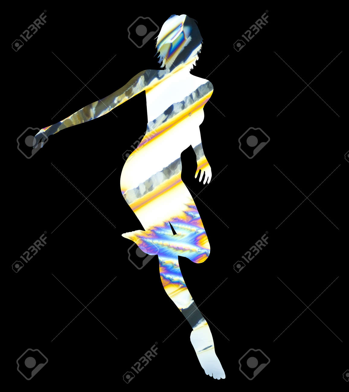 Silhouette of a posing Woman Stock Photo - 15911431