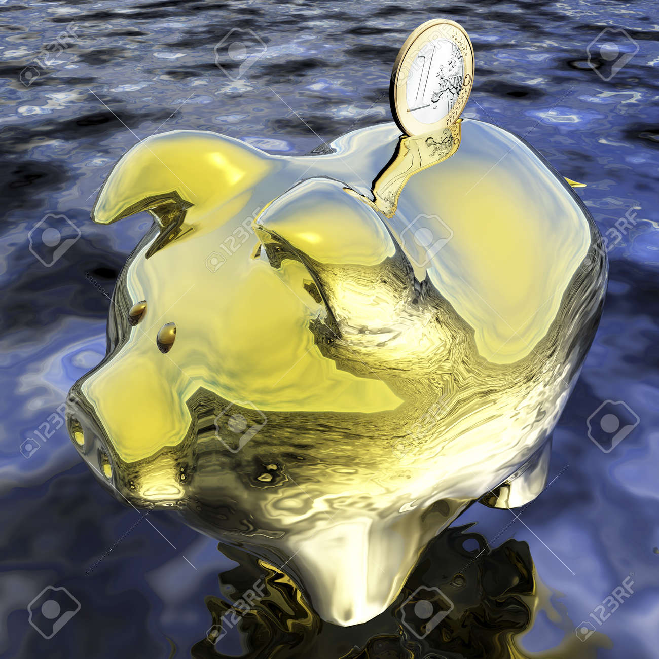Digital Piggybank Visualization Stock Photo - 17881141