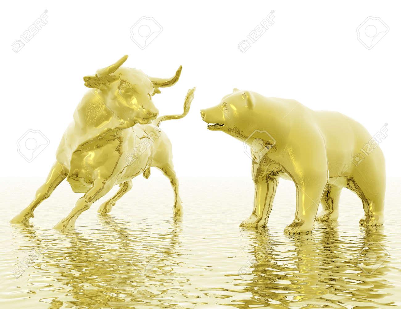 visualisation numérique de taureau et l'ours Banque d'images - 21474201