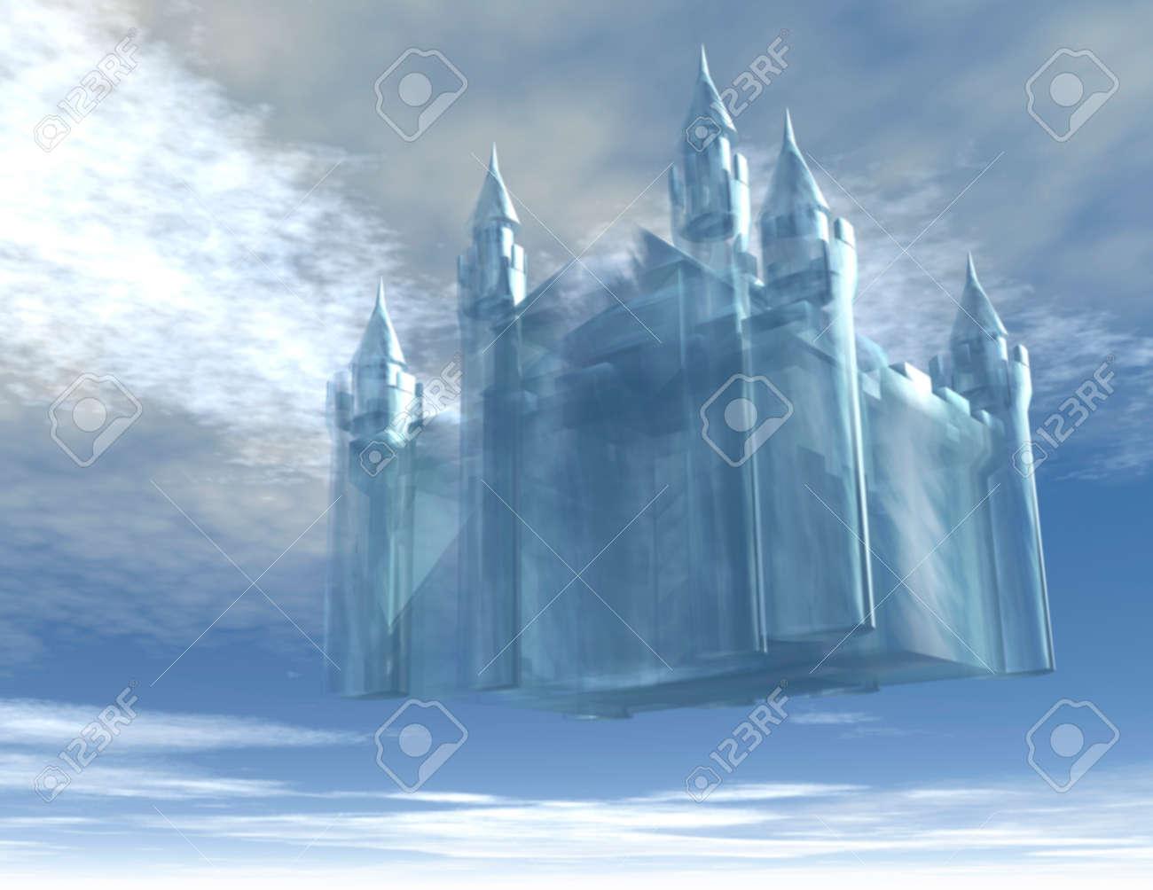 Illustration d'un château dans le ciel Banque d'images - 25779701