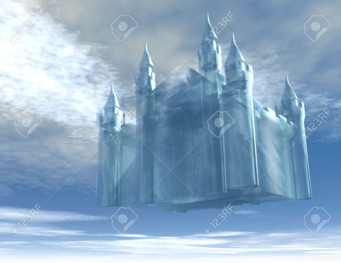 Illustration of a Castle in the Air - 25779701