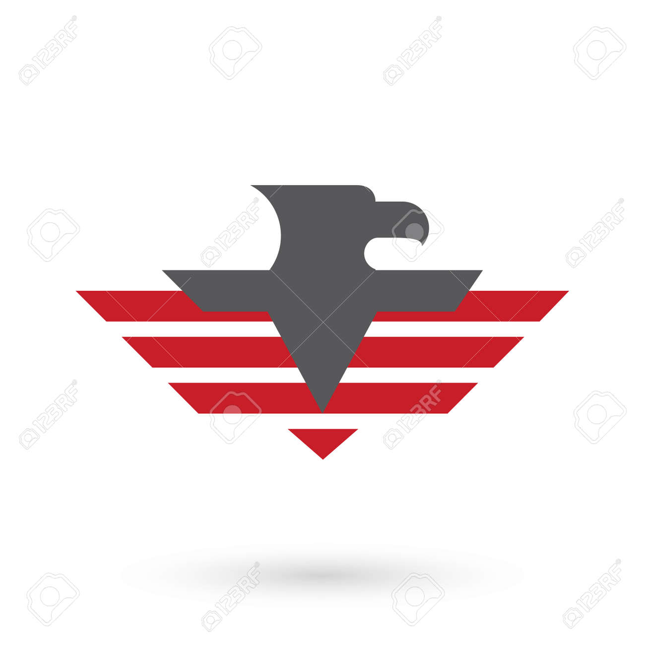 military logo template with eagle icon royalty free cliparts rh 123rf com military logo vector military logo vector