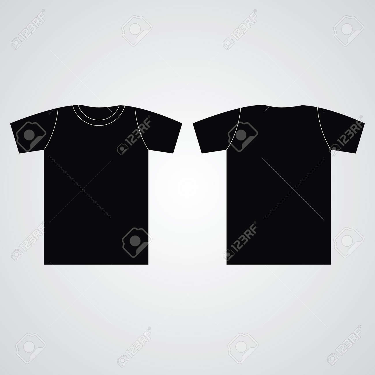 T Shirt Template. Front And Back Royalty Free Cliparts, Vectors, And ...