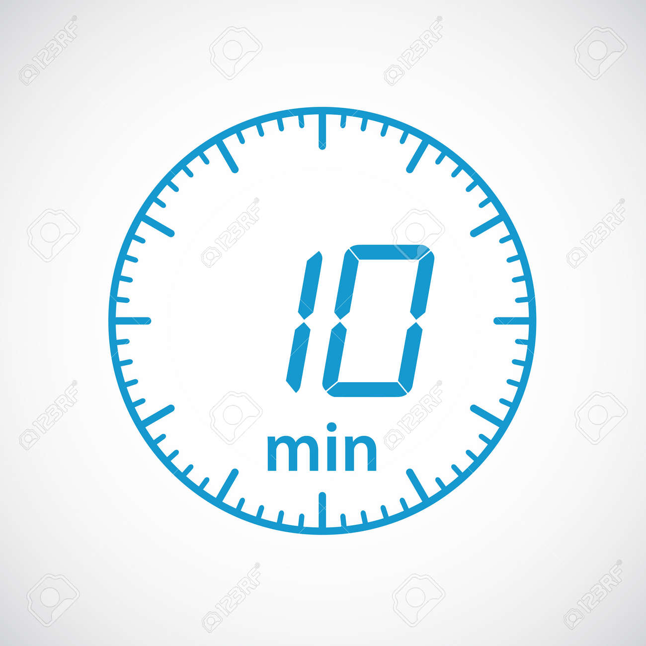 set of timers 10 minutes vector illustration royalty free cliparts