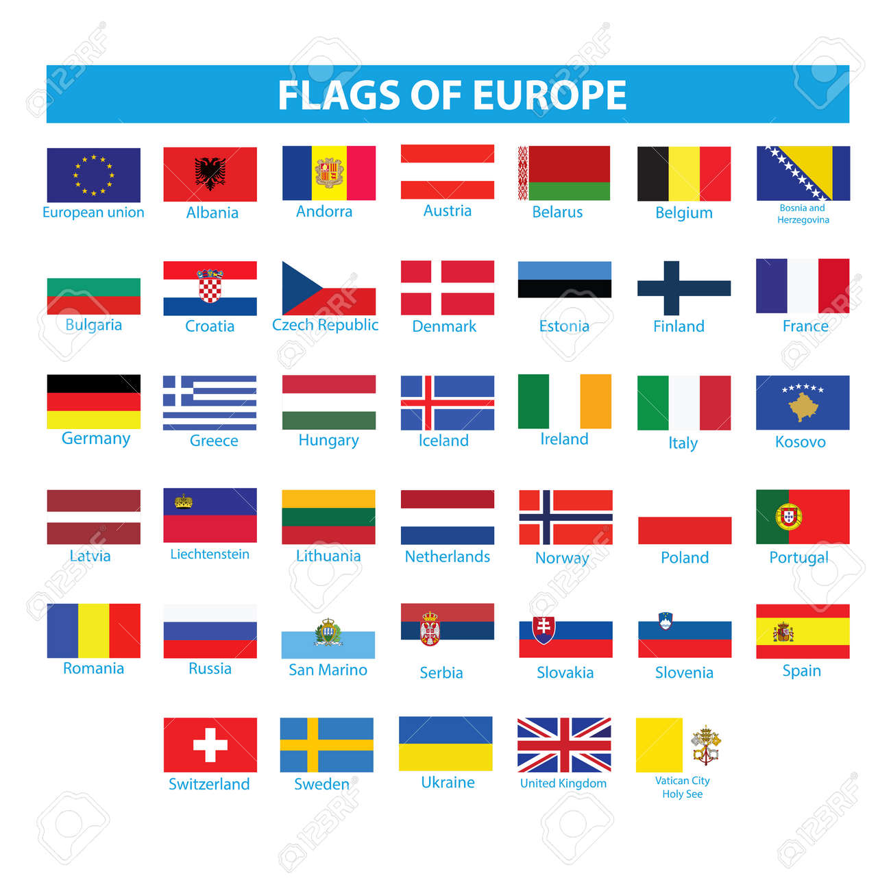 Flags of Europe - 148900665