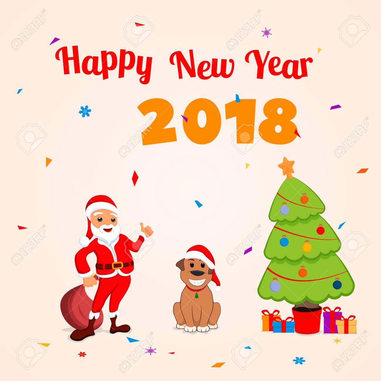 Santa claus and funny dog new year illustration royalty free santa claus and funny dog new year illustration stock vector 89275322 kristyandbryce Choice Image