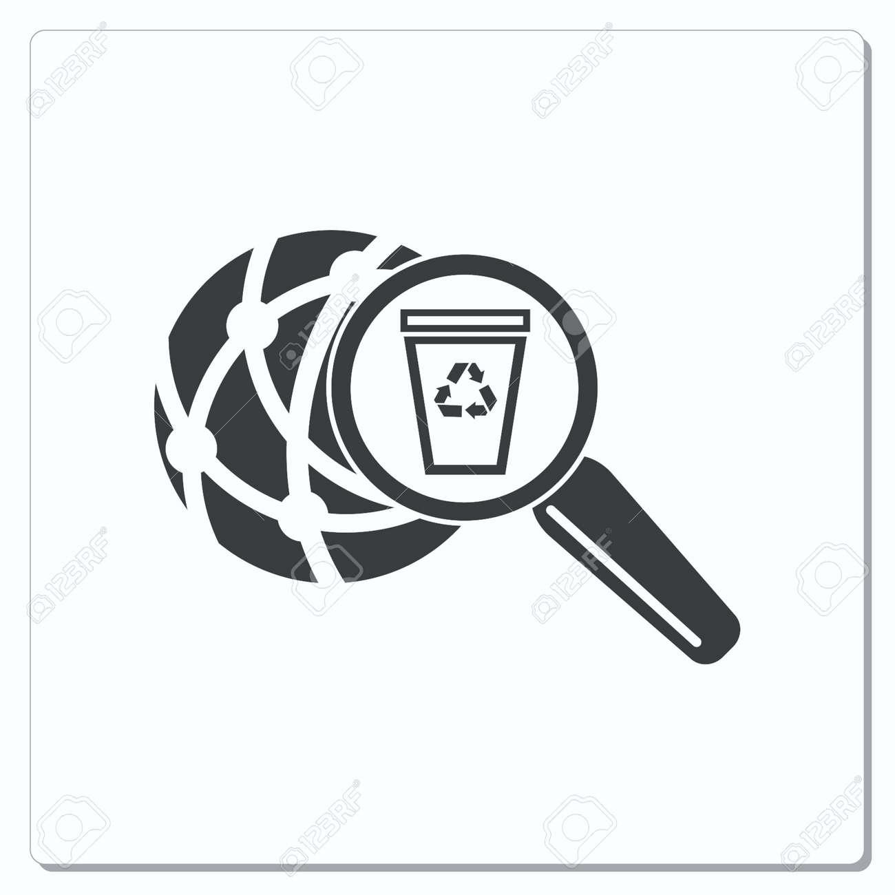 Throw away the trash icon, recycle icon