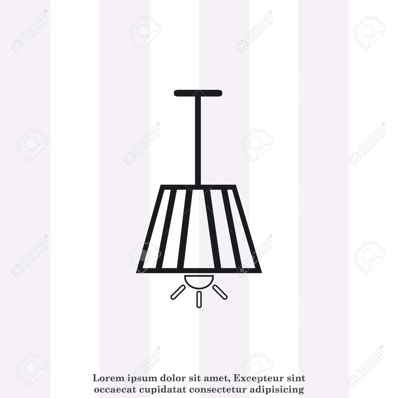 Home Appliances Icon Table Lamp Floor Lamp Chandelier Icon