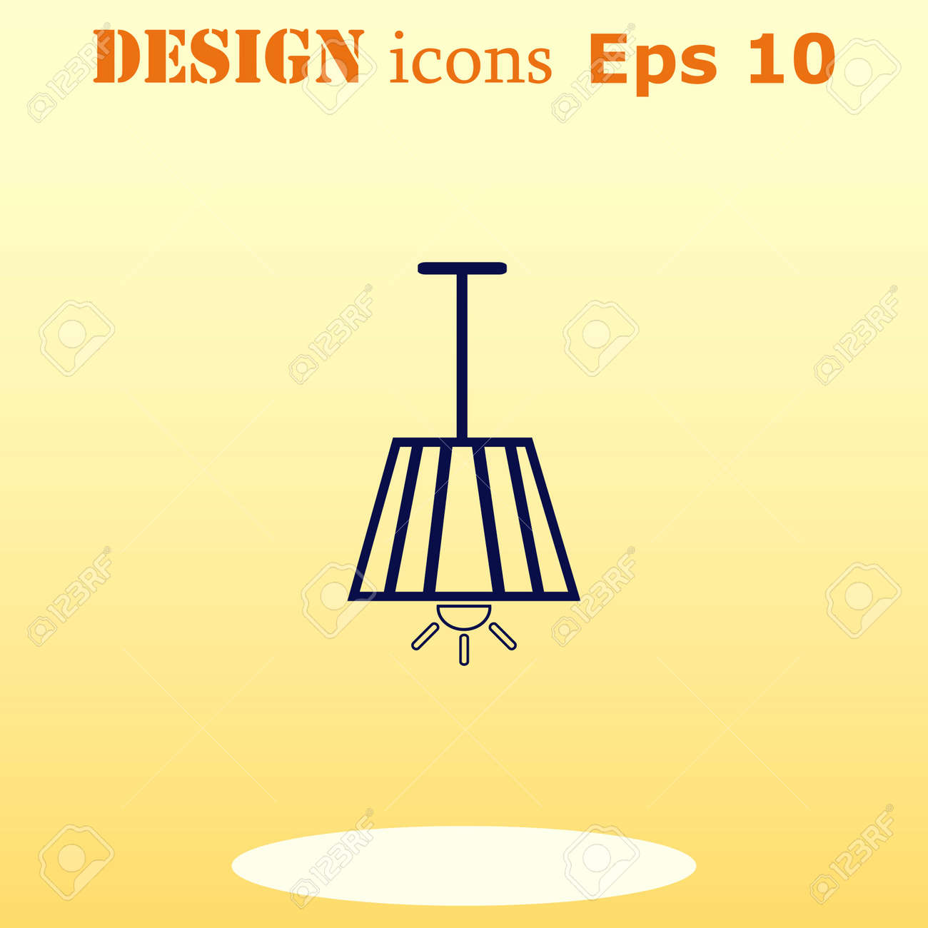 Home appliances icon table lamp floor lamp chandelier icon table lamp floor lamp chandelier icon vector illustration aloadofball Images