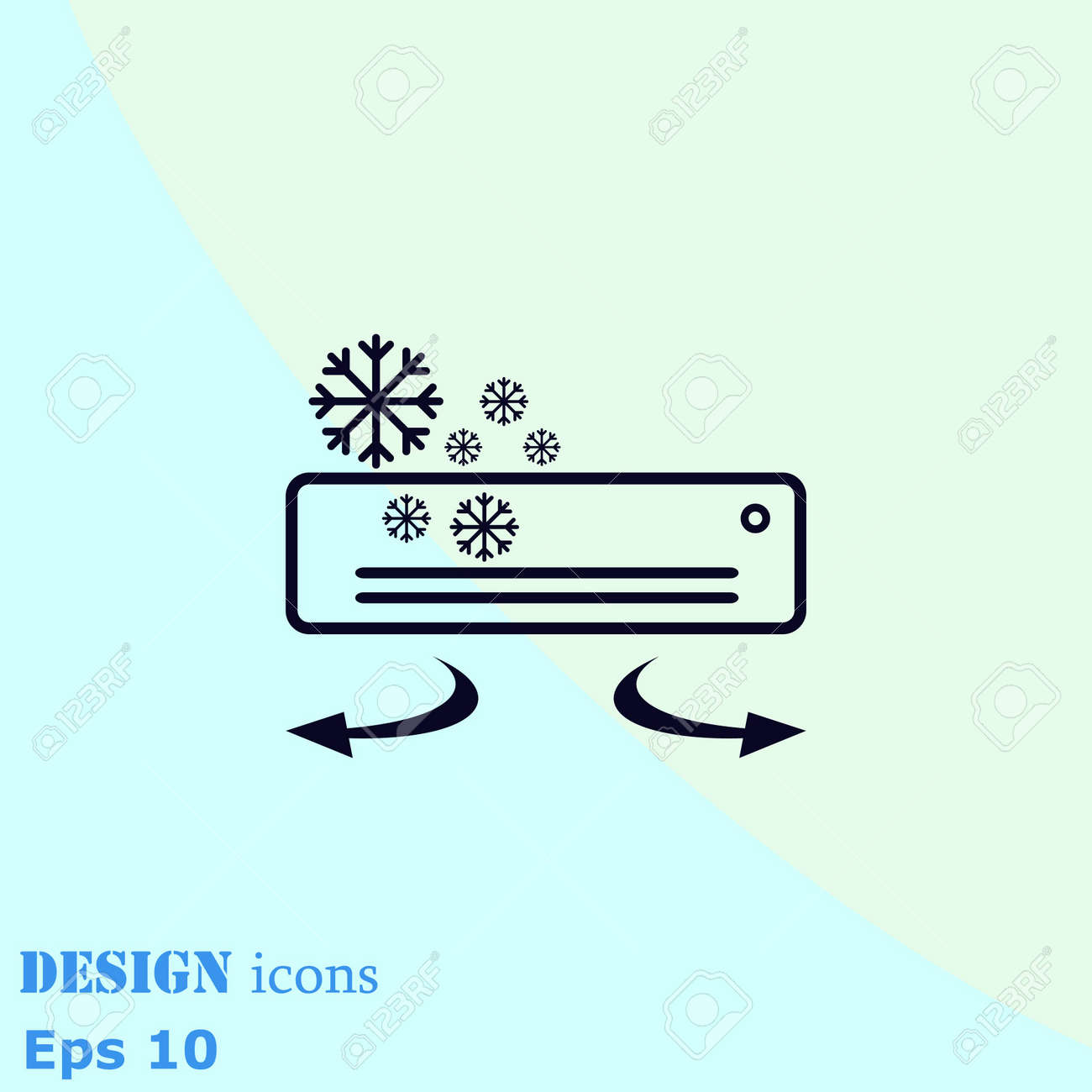 Home Appliances Icon. Air Conditioning Icon. Vector Illustration ...