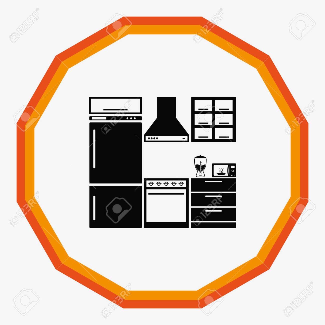 Home Interior Design Icon Kitchen Icon Dining Icon Vector