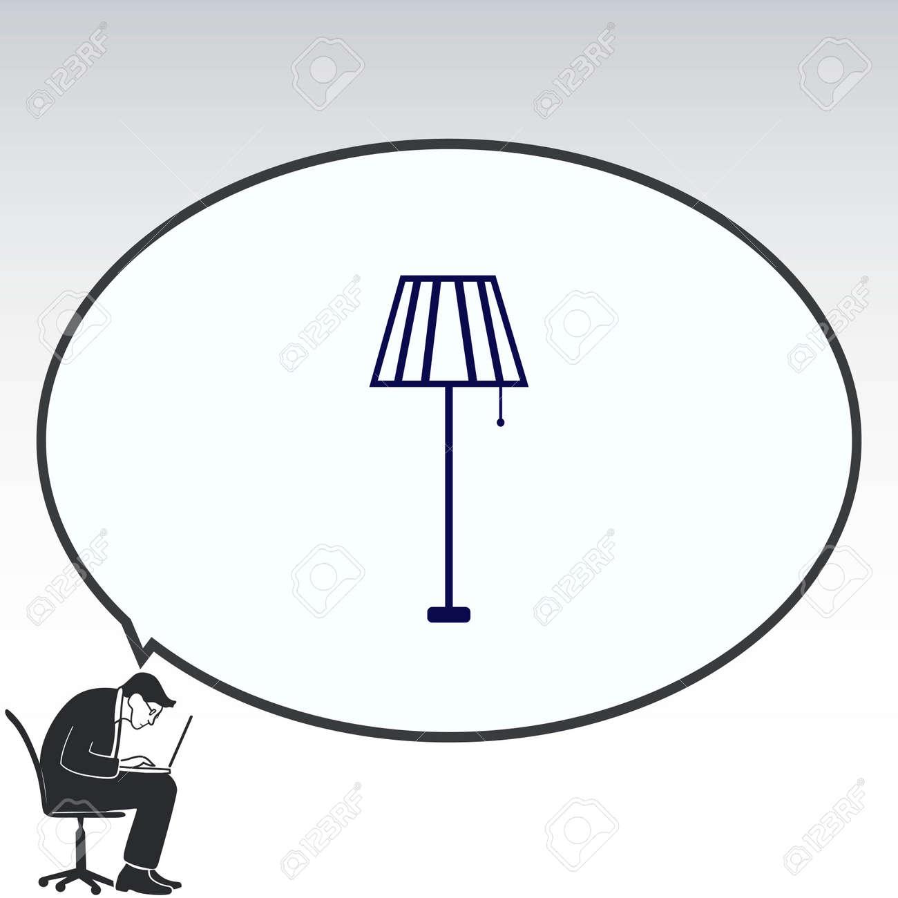 table lamp floor lamp chandelier icon vector