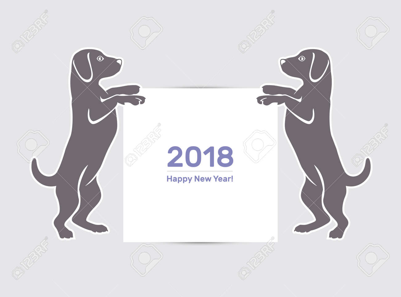 Chinese new year 2018 festive vector card design with cute dog chinese new year 2018 festive vector card design with cute dog zodiac symbol of 2018 biocorpaavc