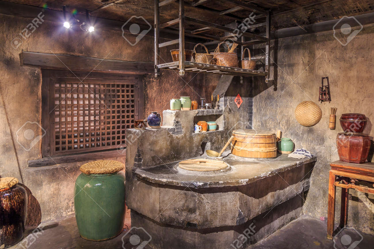 Charmant Old Chinese Kitchen Stock Photo   58167797