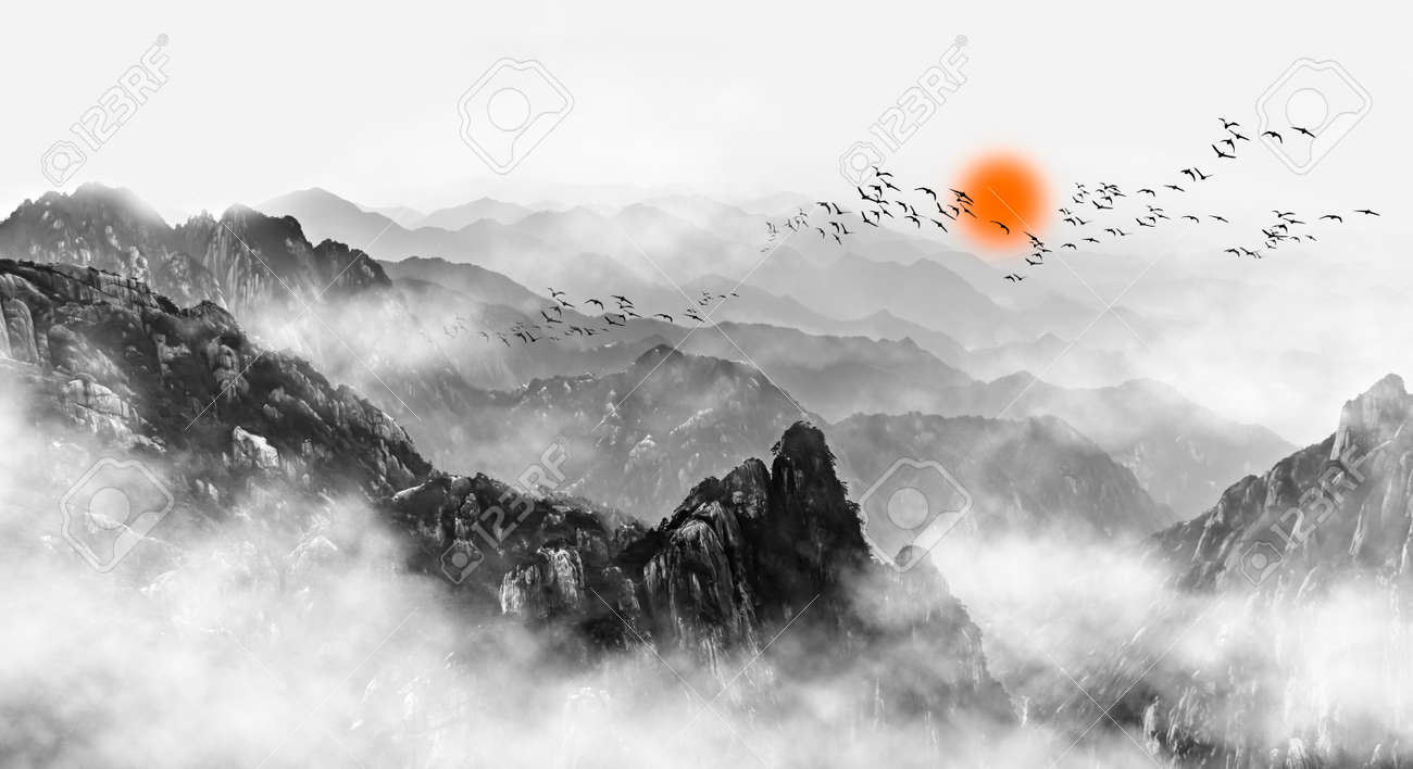 Mount Huangshan mountain clouds and mist - 91791642