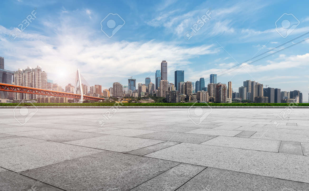 Chongqing urban architectural landscape skyline - 130841143