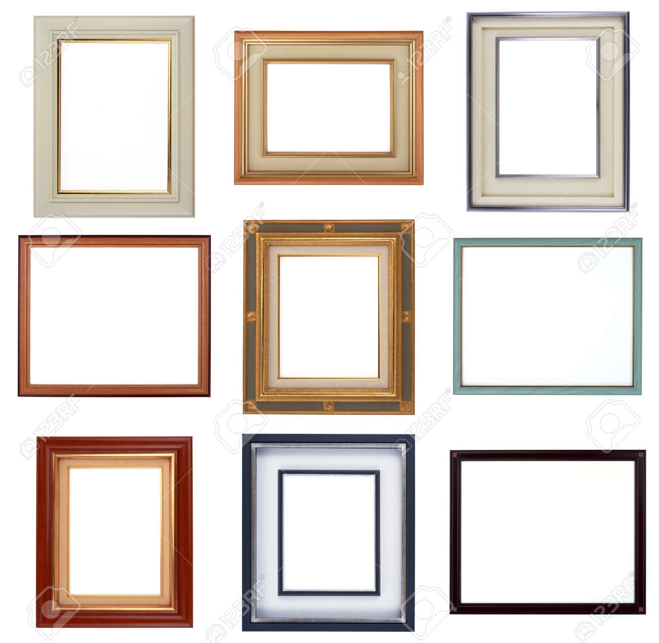 Modern Frames, Photo Frame Isolated On White Background Stock Photo ...