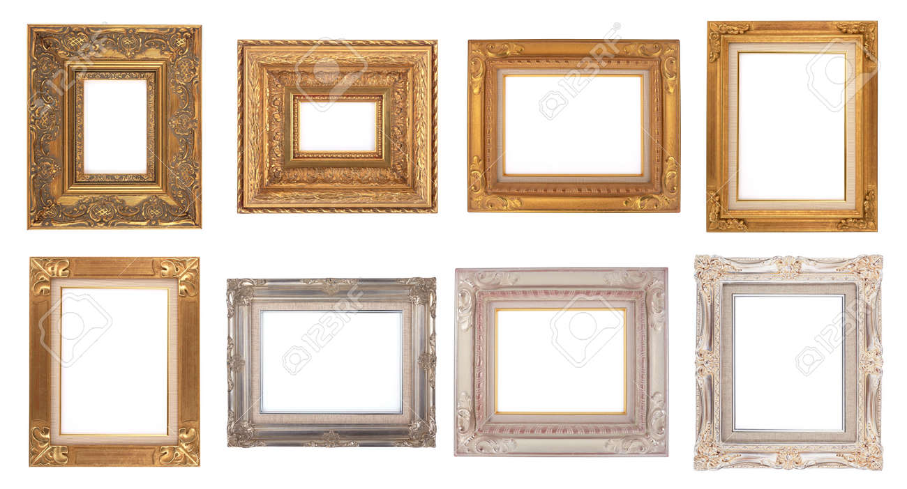 Classic Old Frames, Photo Frame Isolated On White Background Stock ...