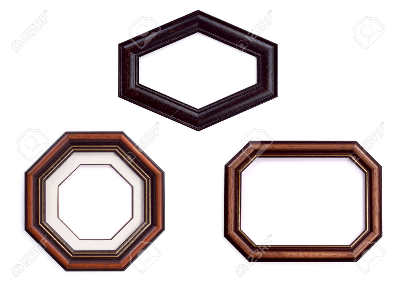Hexagon, Octagon Frames Set, Strange Photo Frame Isolated On.. Stock ...