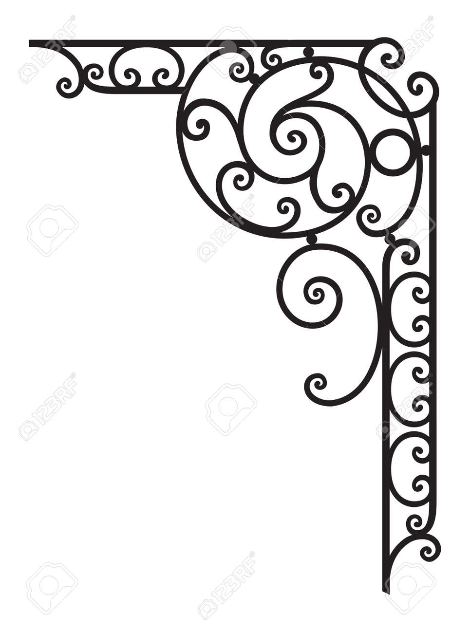 Decorative Corner Frame Royalty Free Cliparts, Vectors, And Stock ...