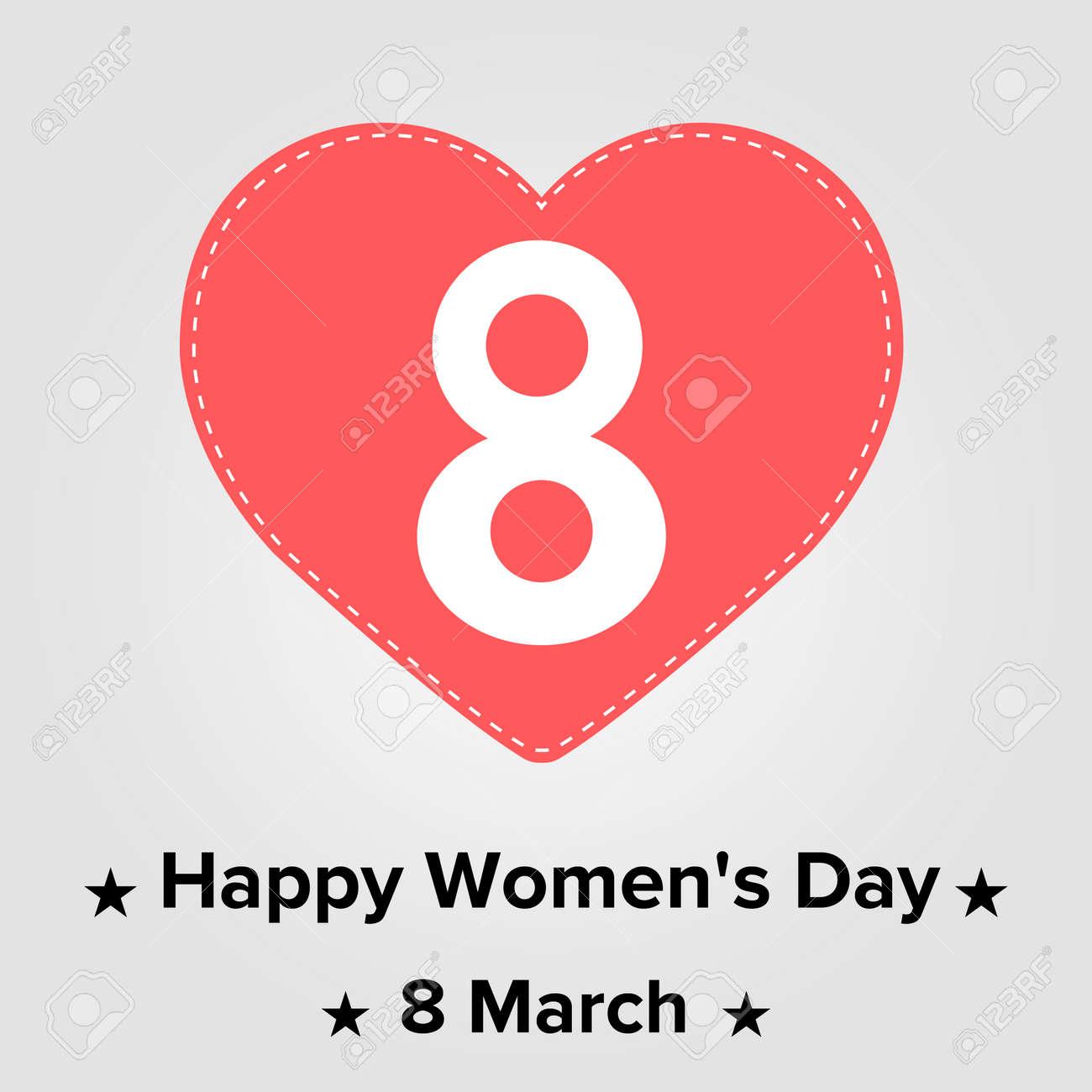 Hearts Symbols Happy Womens Day 8 March Royalty Free Cliparts