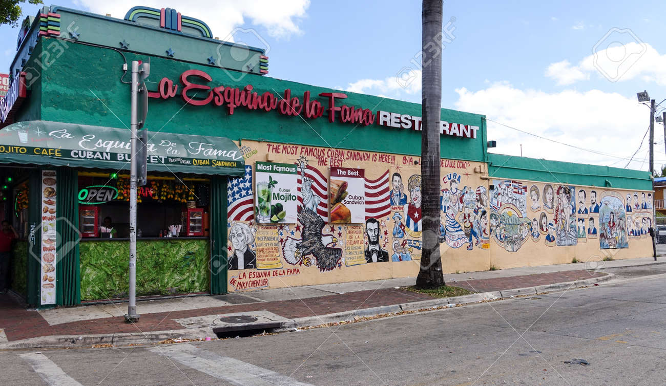 Wall Painting At A Restaurant In Little Havana Miami