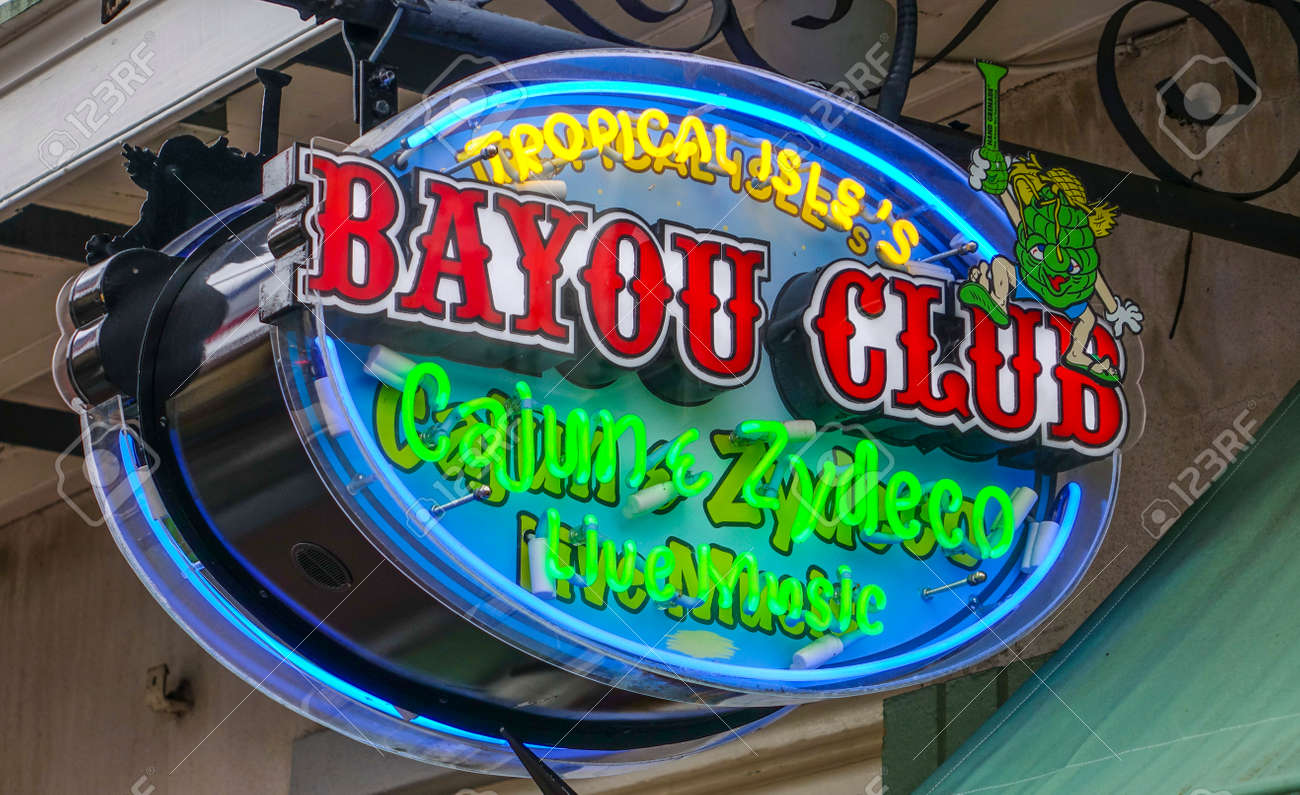 Clubs And Restaurants In New Orleans Bourbon Street French Quarter