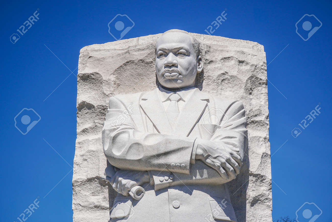 Close up shot of the Martin Luther King Memorial in Washington DC - WASHINGTON DC - COLUMBIA - APRIL 7, 2017 - 78268273