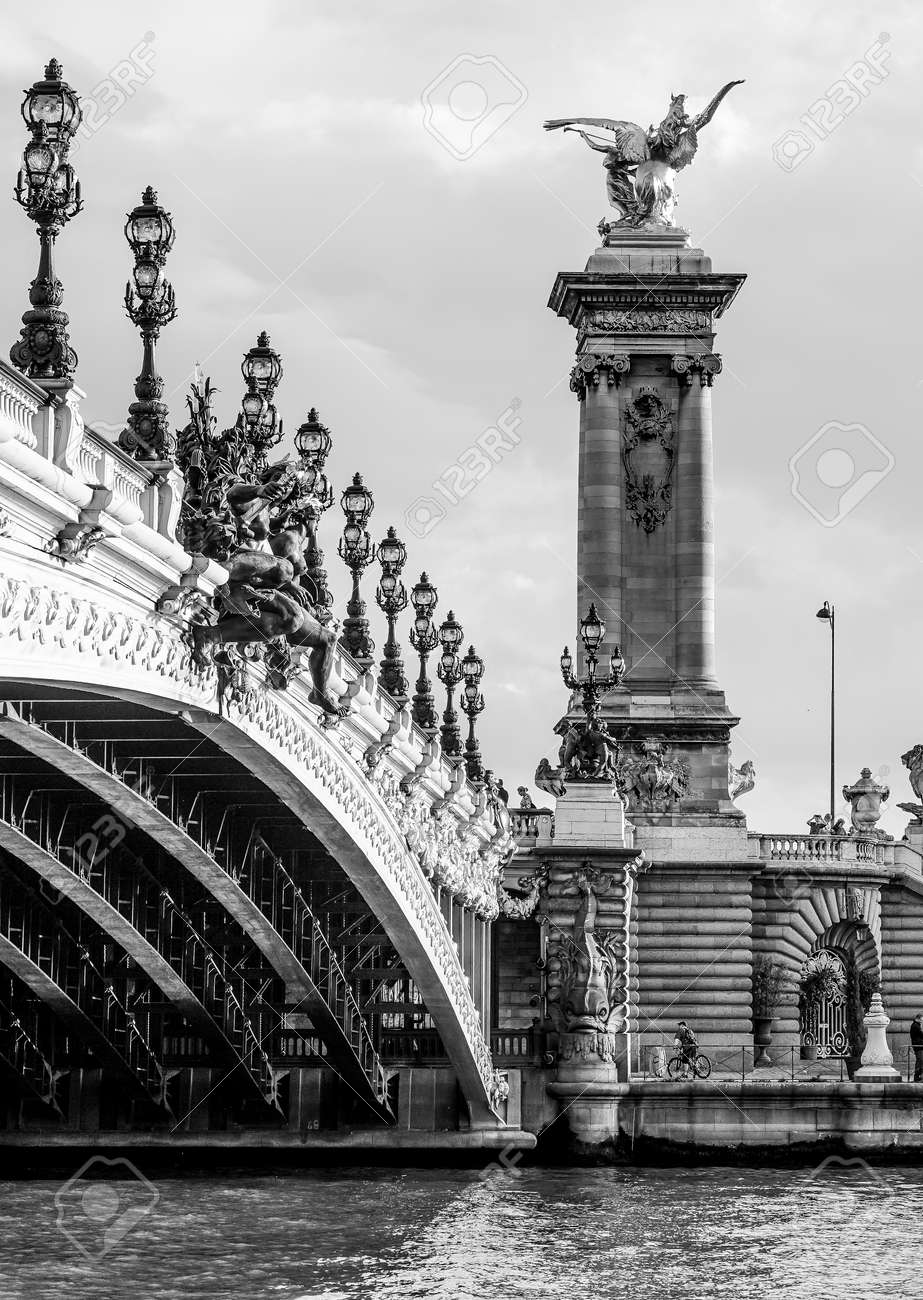 Amazing Alexandre III Bridge in the city of Paris - 84917393