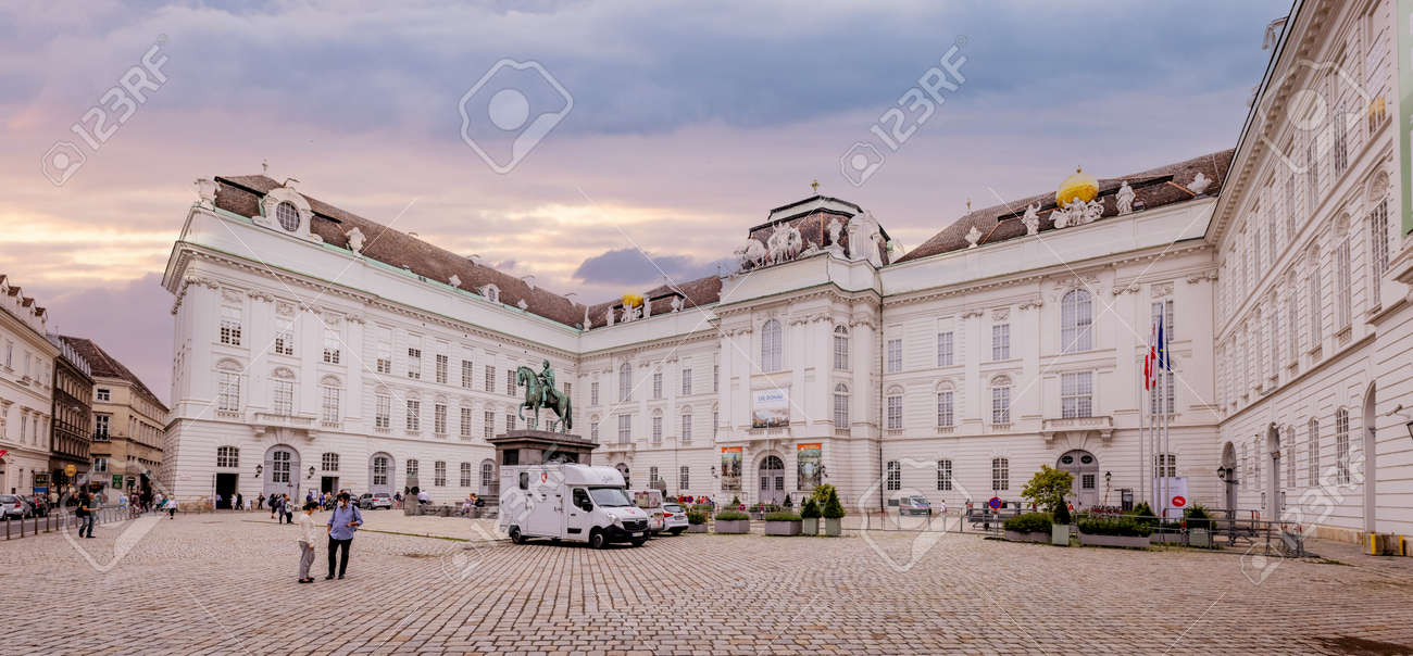 The Vienna Hofburg palace - most famous landmark in the city - VIENNA, AUSTRIA, EUROPE - AUGUST 1, 2021 - 173492638