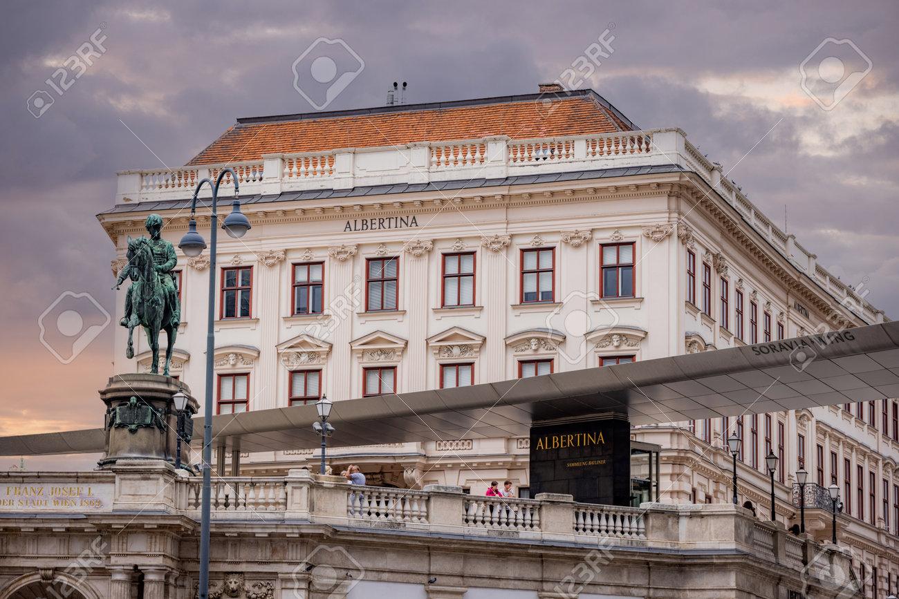 Albertina Museum in the city of Vienna - VIENNA, AUSTRIA, EUROPE - AUGUST 1, 2021 - 173492634