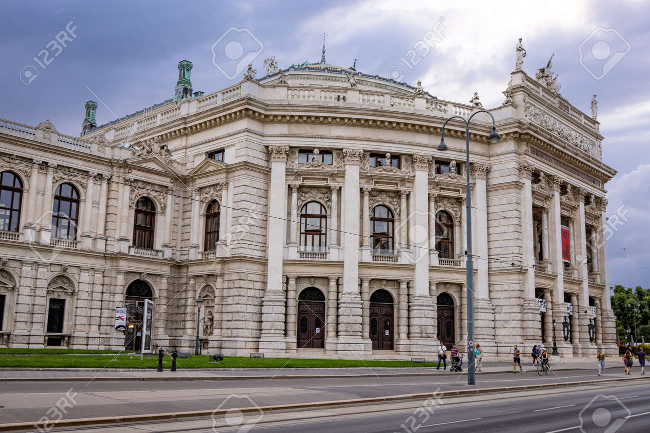 Famous Burgtheater of Vienna - the National Theater in the city - VIENNA, AUSTRIA, EUROPE - AUGUST 1, 2021 - 173492622