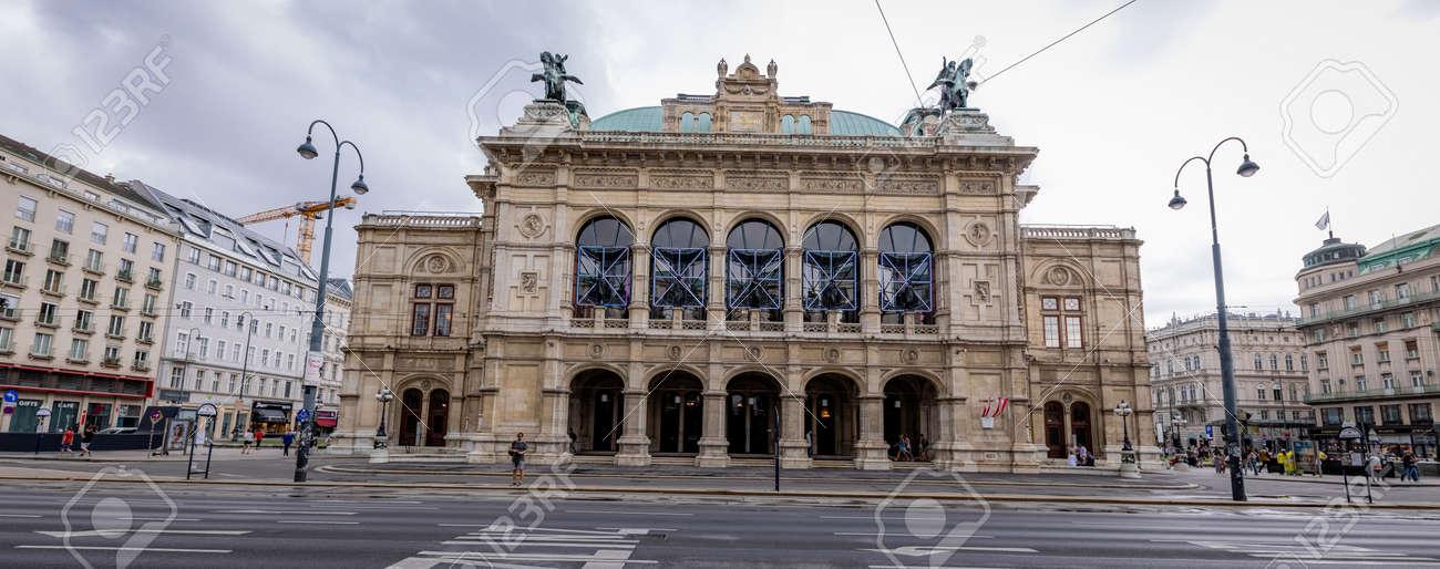 Vienna State Opera building in the city center - VIENNA, AUSTRIA, EUROPE - AUGUST 1, 2021 - 173492619