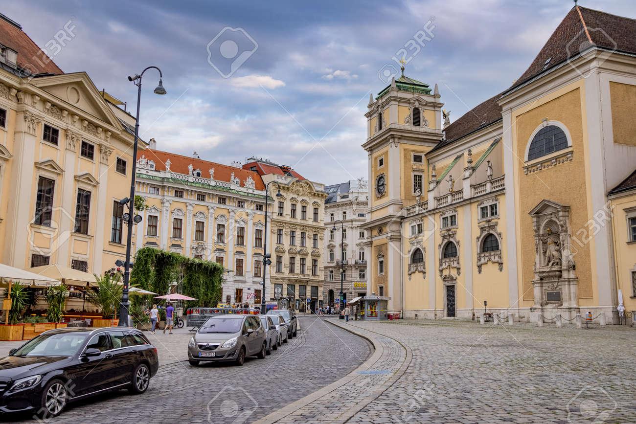 Street view in the old town of Vienna - VIENNA, AUSTRIA, EUROPE - AUGUST 1, 2021 - 173492618