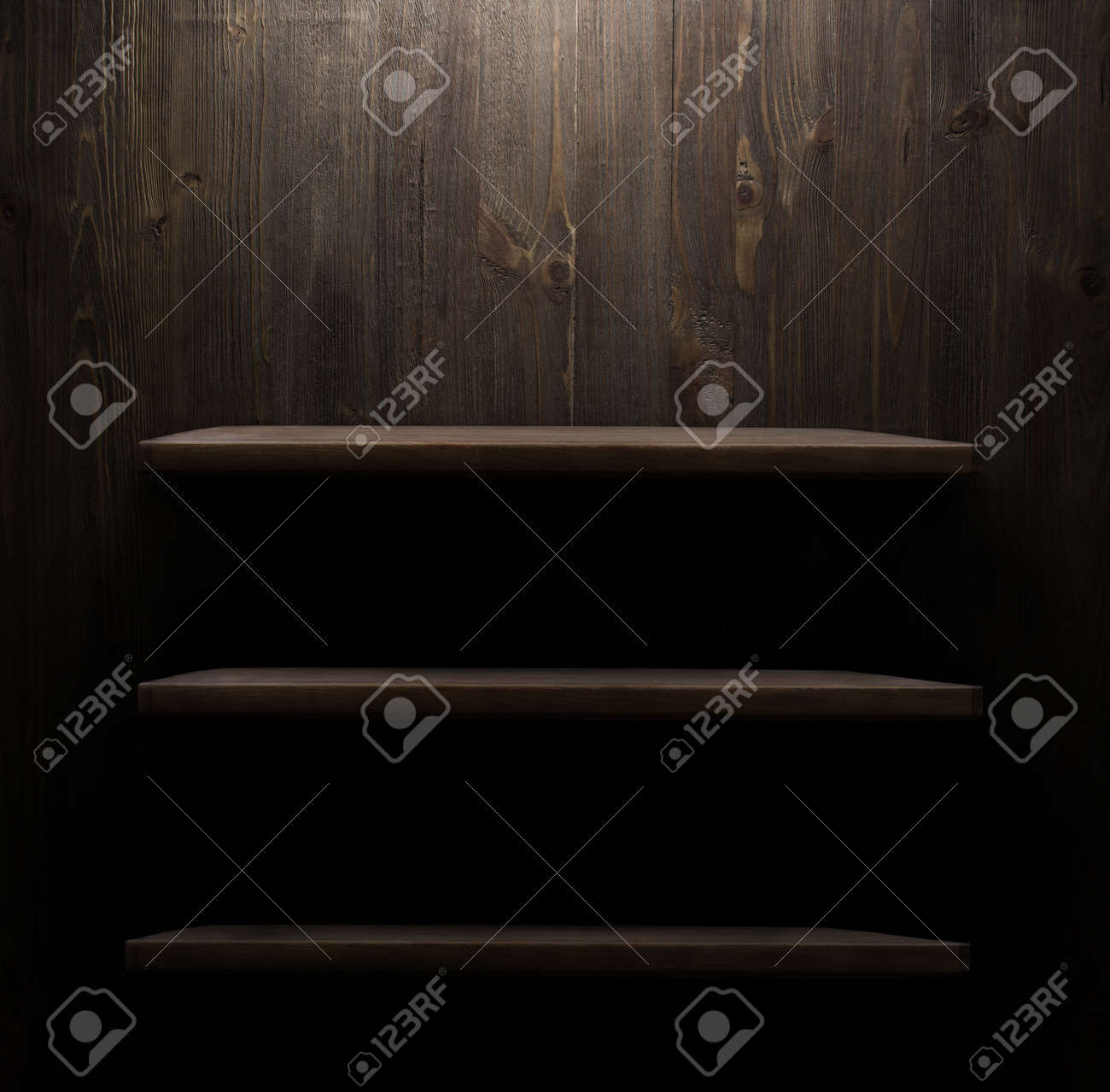 Dark Wooden Background Texture. Wood Shelf Grunge Industrial Interior Stock  Photo   41304512