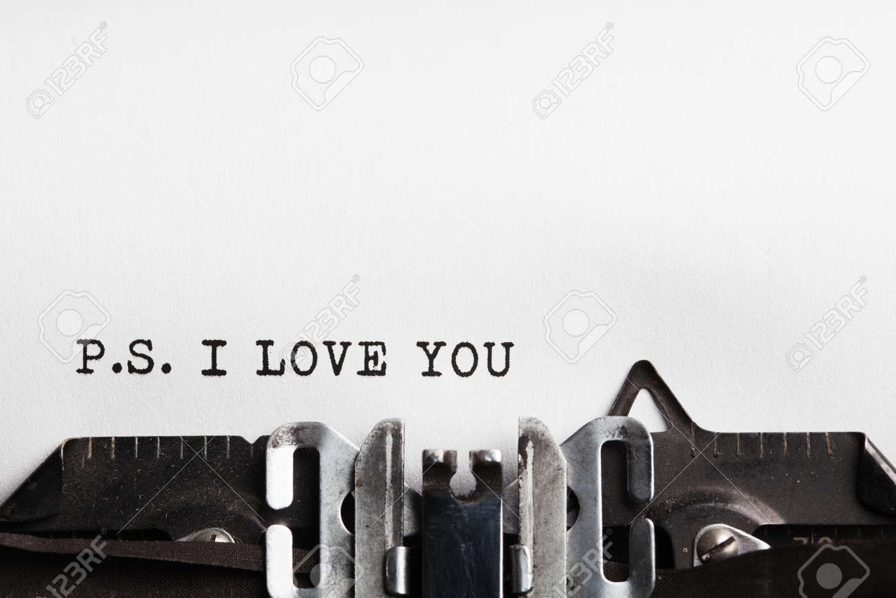 I Love You. typewriter with paper sheet. Space for your text - 44056535