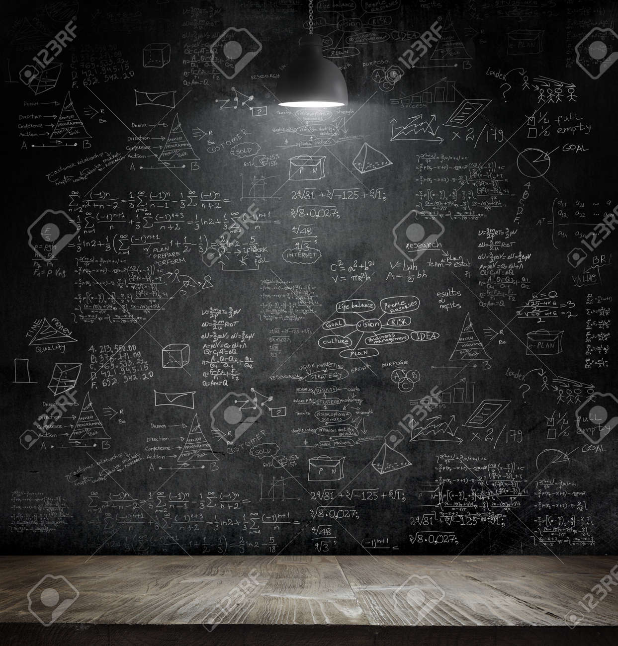 business idea concept on wall backboard blackground - 47259240