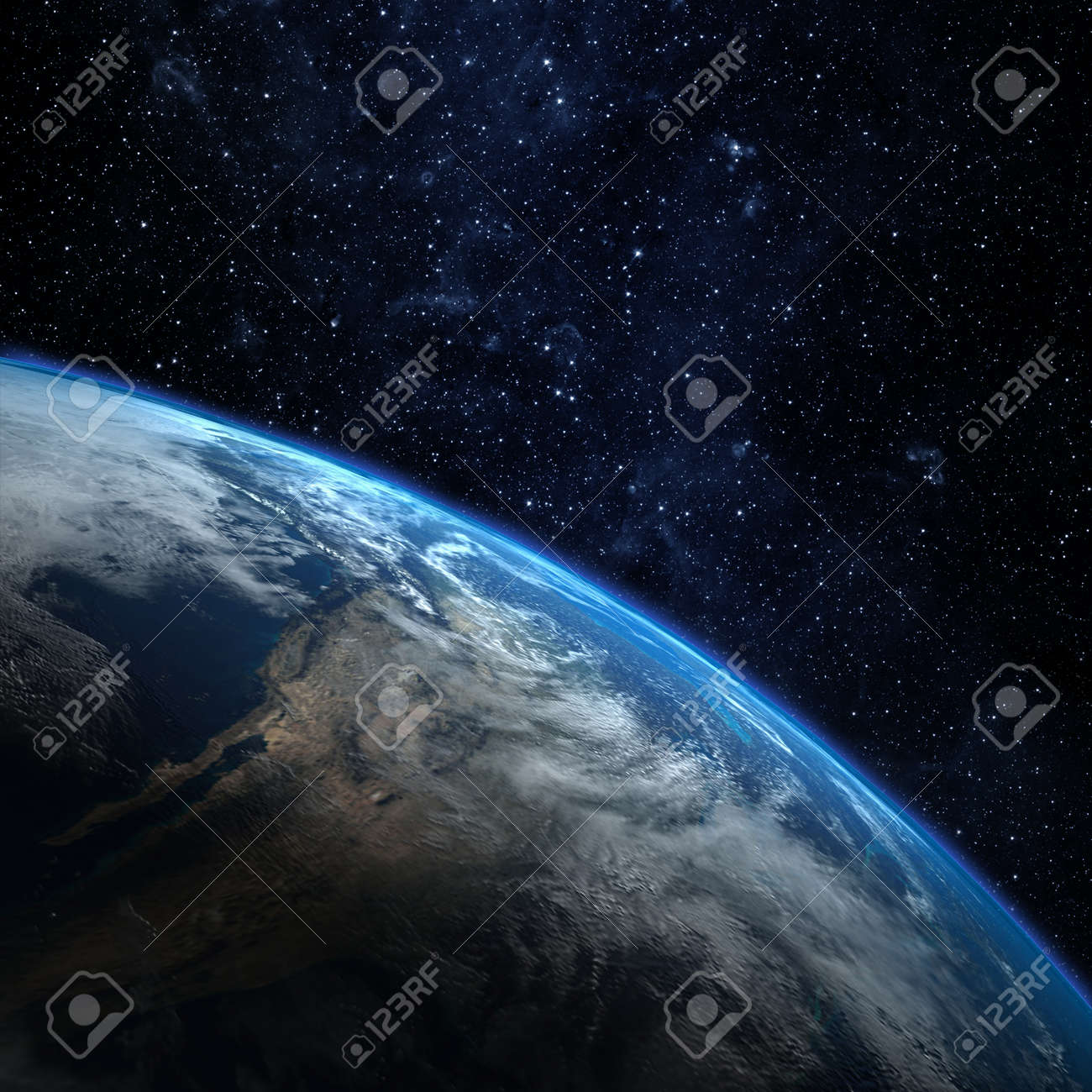 Planet earth from the space. Some elements of this image furnished by NASA - 49005455