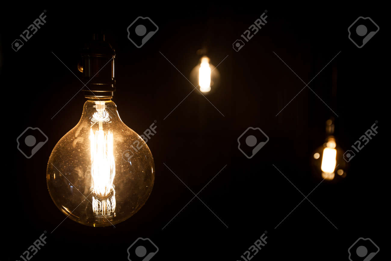 antique edison style light bulbs - 55385023