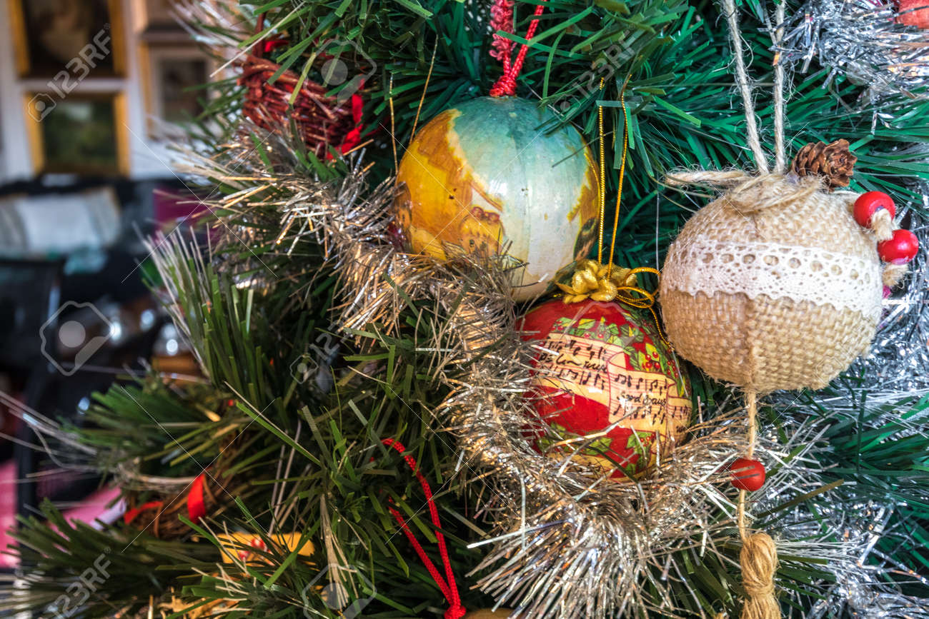 Italian Christmas.Christmas Tree Balls In Traditional Italian Christmas At Home