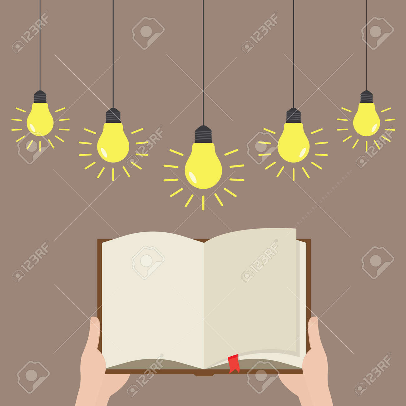 Open paper book with light bulb and business plan Stock Vector - 36957096 & Open Paper Book With Light Bulb And Business Plan Royalty Free ... azcodes.com
