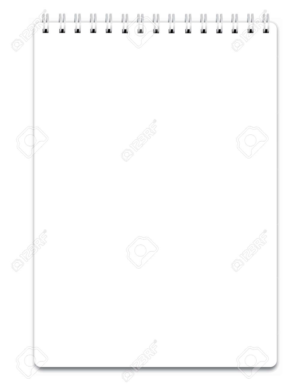 Blank realistic spiral notepad notebook isolated on white vector - 36912616
