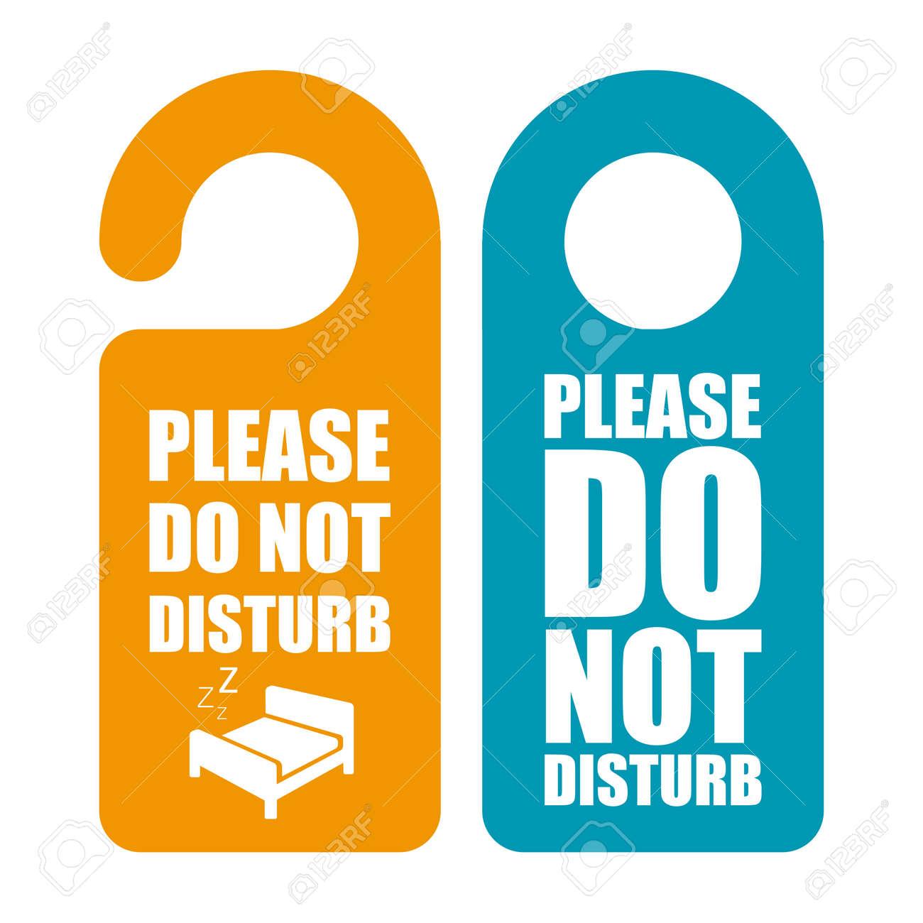 do not disturb door hanger royalty free cliparts vectors and