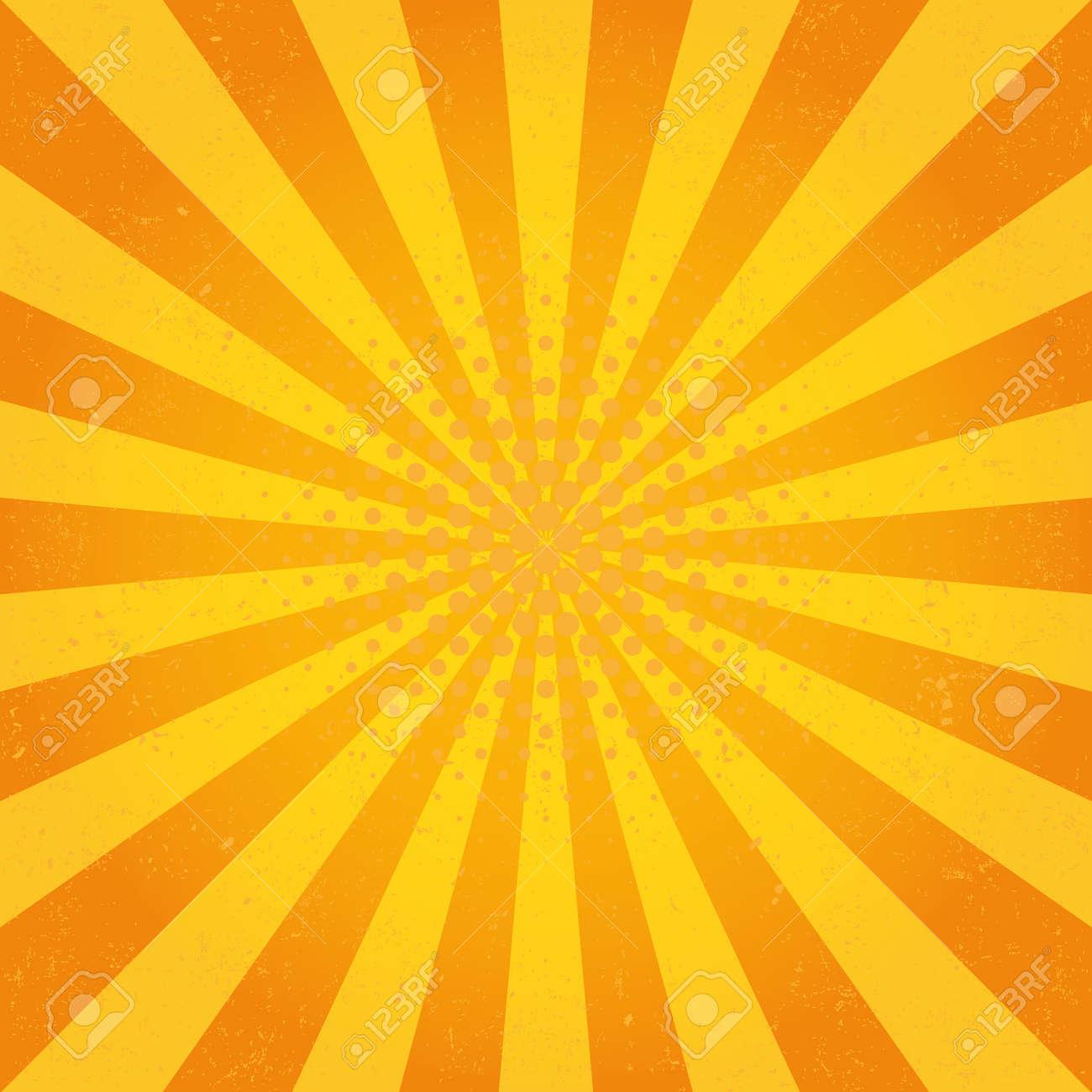 Sun Sunburst Pattern  Retro Background