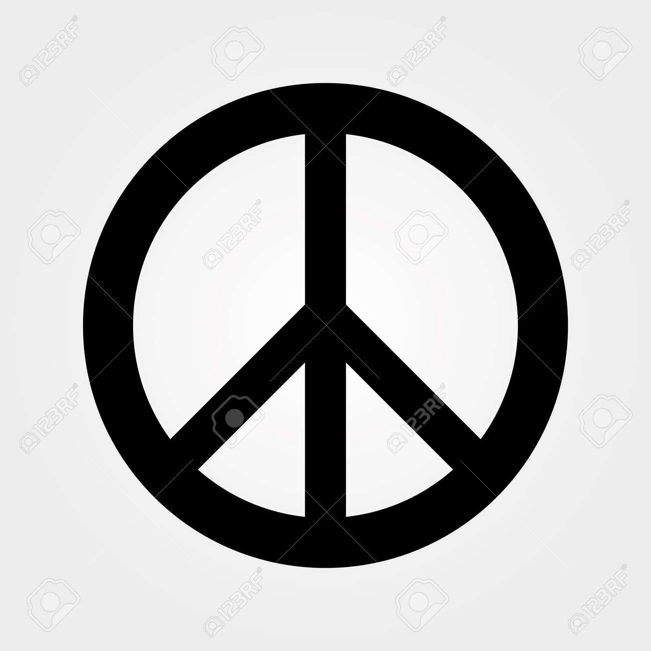 negro símbolo de la paz ilustraciones vectoriales clip art